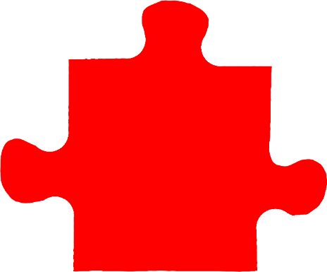 Pure Red Jigsaw Puzzle Piece